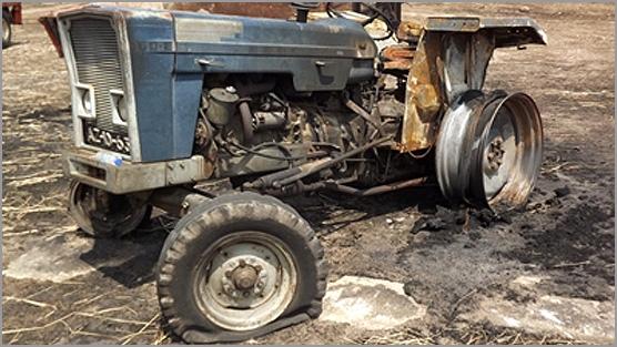 Tractor ardido (imagem apenas ilustrativa) - Capeia Arraiana