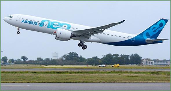 Airbus A330neo realizou o primeiro voo teste (Foto: Airbus/P.Pigeyre)