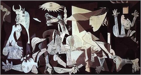 «Guernica», Pablo Picasso (junho de 1937), Museu Rainha Sofia em Madrid - capeiaarraiana.pt