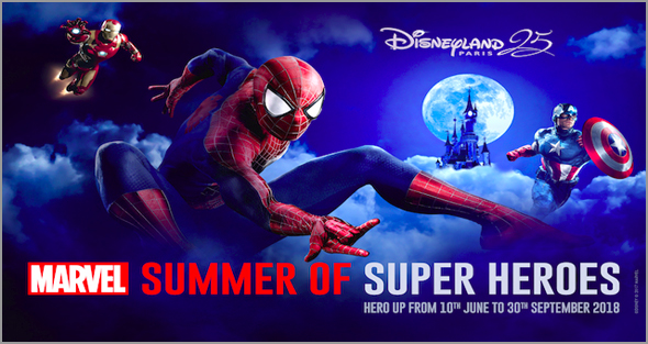 Super-Heróis da Marvel vão estar no Verão na Disyneland Paris - soviajar - capeia arraiana