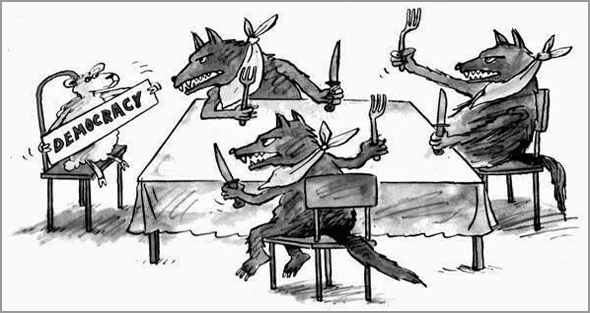 A democracia é vítima dos «lobos famintos» - António Emídio - Capeia Arraiana
