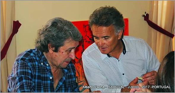 Fernando Pinto Monteiro (Presidente da Mesa da Assembleia Geral) e Alberto Pachê (Presidente da Direcção) da Casa do Concelho do Sabugal