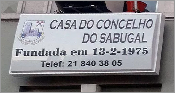 Casa do Concelho do Sabugal em Lisboa - Placa Luminosa - Capeia Arraiana