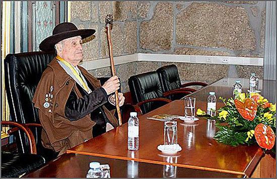 Manuel Leal Freire era Grão Mestre da Confraria do Queijo Serra da Estrela