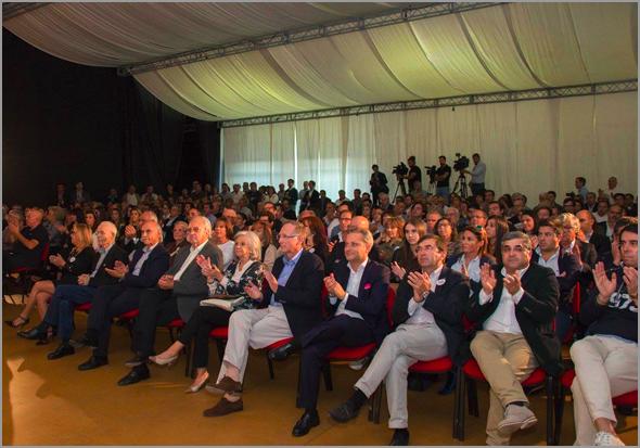 Vítor Proença (terceiro a contar da direita) na sessão de esclarecimento de Rui Rio na Guarda - Capeia Arraiana