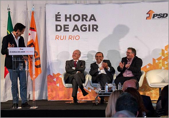 Carlos Peixoto discursa na sessão de esclarecimento de Rui Rio na cidade da Guarda - Capeia Arraiana