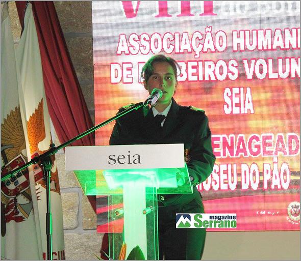Discurso de Carla em representação do Corpo de Bombeiros Voluntários do Sabugal - Capeia Arraiana