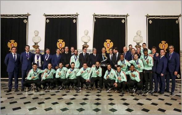 Selecção Nacional de Futsal recebida pelo Presidente da República no Palácio de Belém - Capeia Arraiana
