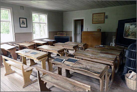 Sala de aulas da escola primária