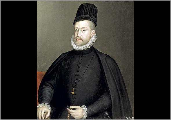 Filipe II de Espanha. Cerca do ano 1560 - Capeia Arraiana