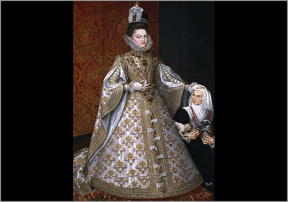 Outro retrato de Isabel Clara Eugénia adulta. Cerca do ano 1586 - Capeia Arraiana