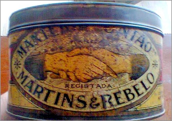 Embalagem de manteiga da casa Martins & Rebelo - Capeia Arraiana
