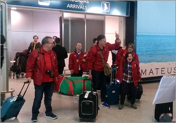 Comitiva portuguesa à chegada - Capeia Arraiana