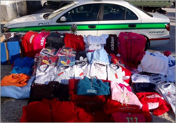 Artigos contrafeitos apreendidos pela GNR - Capeia Arraiana