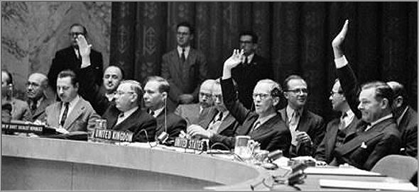 Votação no Conselho de Segurança para aprovar a entrada de Portugal na ONU - Capeia Arraiana