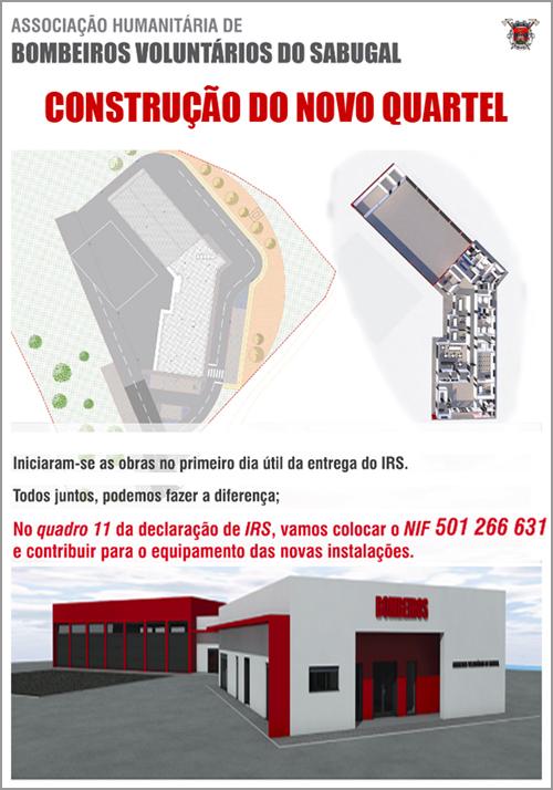 Contribua no IRS para a construção do novo quartel dos Bombeiros Voluntários do Sabugal - Capeia Arraiana