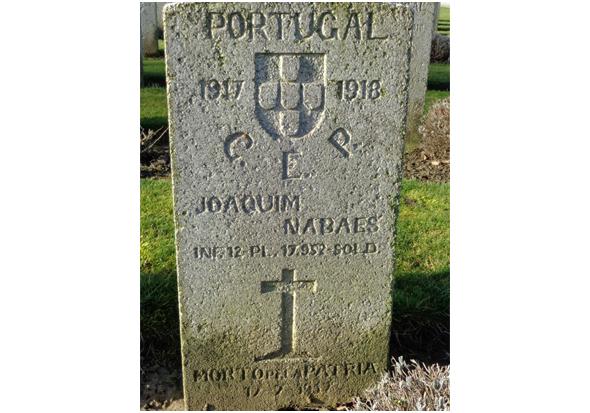 Joaquim Nabais, natural de Águas Belas, foi morto em combate em França na Primeira Guerra Mundial (Foto: Memorial virtual do Arquivo Histórico Militar) - capeiaarraiana.pt