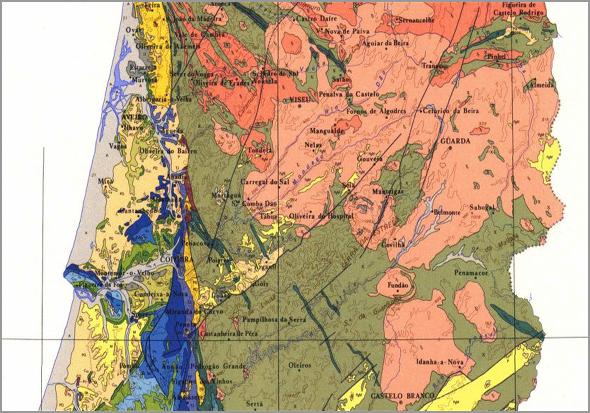 Carta Geológica do Distrito da Guarda - Capeia Arraiana