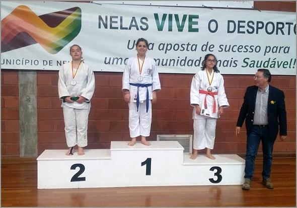 Judoca raiana no podium - Capeia Arraiana