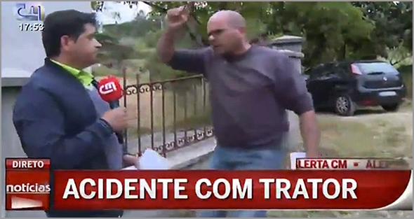 Em Pombal, um directo da CMTV foi interrompido a pontapé - Capeia Arraiana