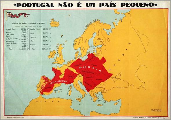 Mapa de Portugal... que não era um país pequeno - Capeia Arraiana