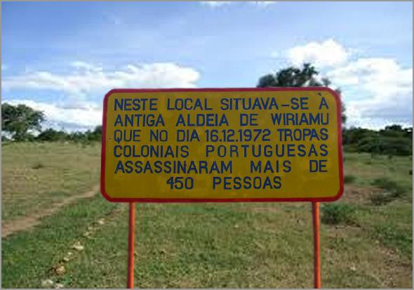 Placa evocativa do ataque a Wiriamu - António José Alçada - Capeia Arraiana