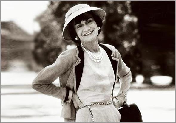 Gabrielle Bonheur Chanel (Saumur, 19-08-1883 - Paris, 10-01-1971) foi uma estilista francesa e fundadora da marca Chanel S.A.. É a única estilista presente na lista das cem pessoas mais importantes da história do século XX da revista Time - Capeia Arraiana