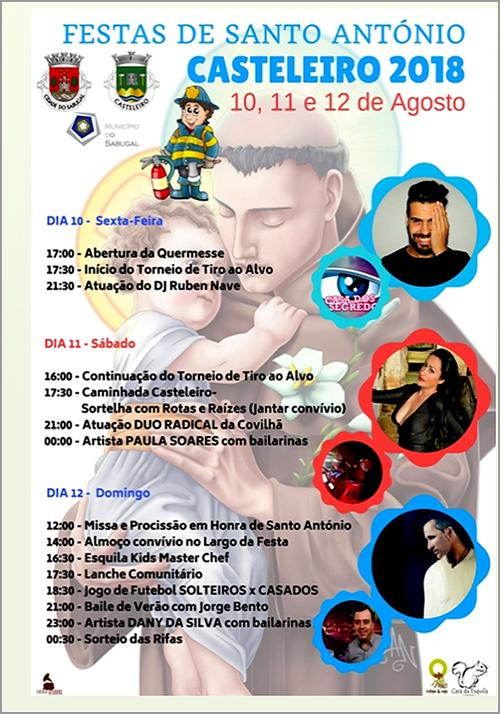 Festas de Santo António 2018 na freguesia do Casteleiro - Capeia Arraiana