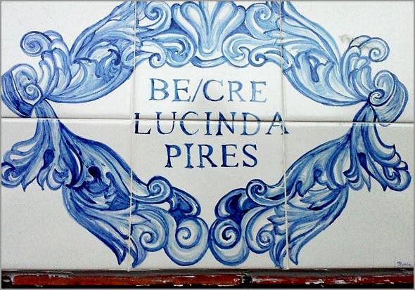 Azulejos com o nome de Lucinda Pires - Capeia Arraiana