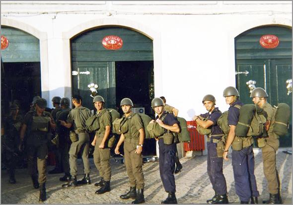 Recrutas na Escola Prática de Cavalaria em Santarém (Foto: Facebook da EPC) - Capeia Arraiana