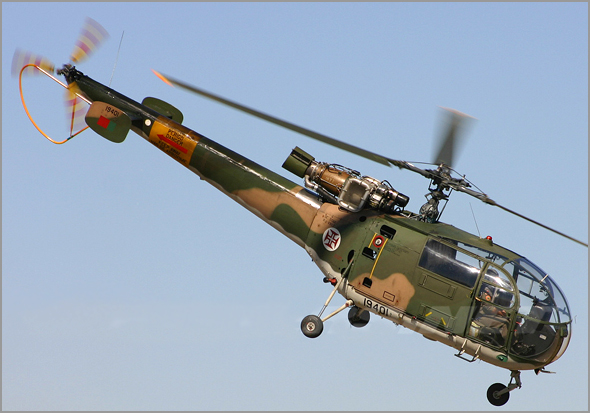 Helicóptero Allouette 3 da Força Aérea Portuguesa - Capeia Arraiana