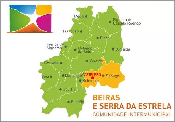 Casteleiro no mapa da Cova da Beira - Capeia Arraiana