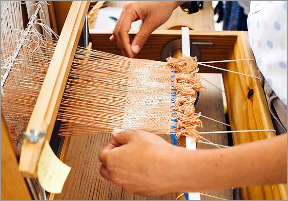 Exemplo de tecelagem manual - Capeia Arraiana