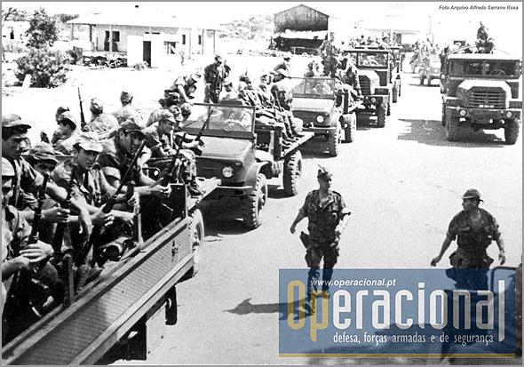 Coluna militar em grande escala (Fonte: blogue «Operacional») - Capeia Arraiana