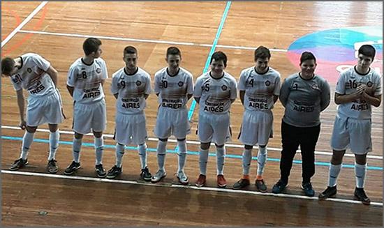 Jovens jogadores do Clube de Futsal do Sabugal
