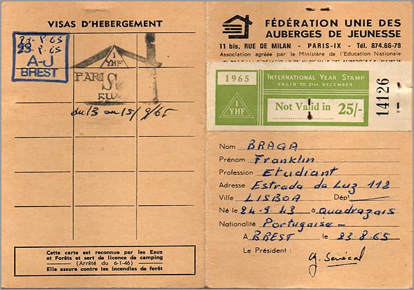 Primeiros carimbos no cartão dos albergues - Capeia Arraiana