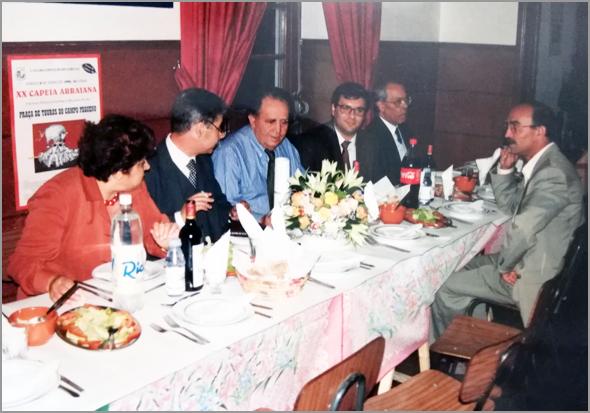 Almoço de Aniversário da Casa do Concelho do Sabugal em 1998 (Foto: J.C.Lages) - Capeia Arraiana