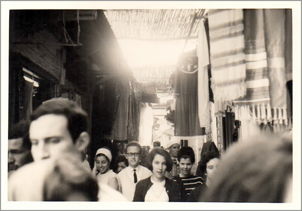 O grupo visita o souk de Azamor - Viagens de um GlobeTrotter - Franklim Costa Braga - Capeia Arraiana