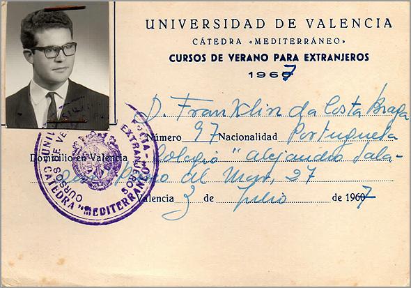 Cartão da Universidade de Valencia - Capeia Arraiana