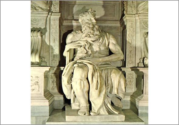 Estátua de Moisés de Miguel Ângelo na Basílica de São Pedro no Vaticano - Capeia Arraiana