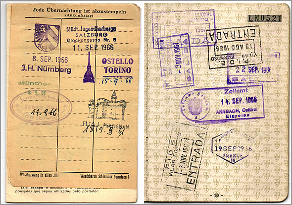 Carimbos no passaporte na fronteira Áustria, Itália e outros - Capeia Arraiana