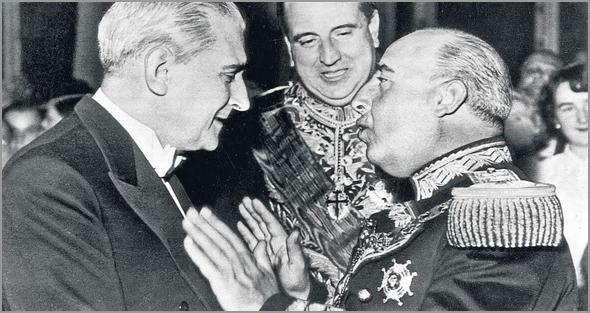António Salazar com Franco - Capeia Arraiana