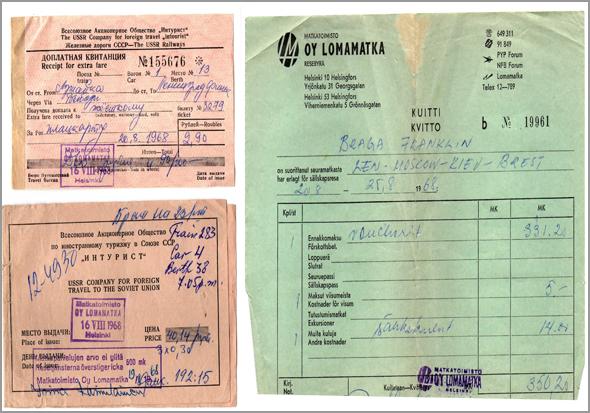 Factura de pagamento á Agência de Viagens Lomamatka - Capeia Arraiana
