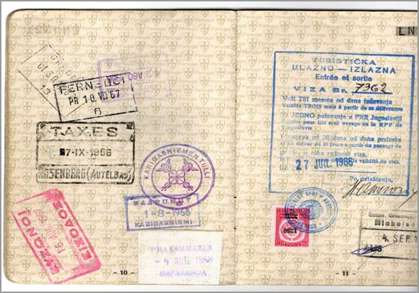 Carimbos do passaporte (Karigasniemi Tuli e outros) - Capeia Arraiana
