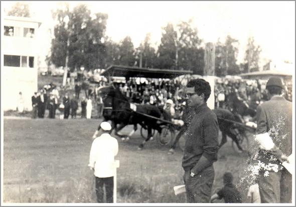Franklim numa corrida de cavalos com atrelado em Waasa. - Capeia Arraiana