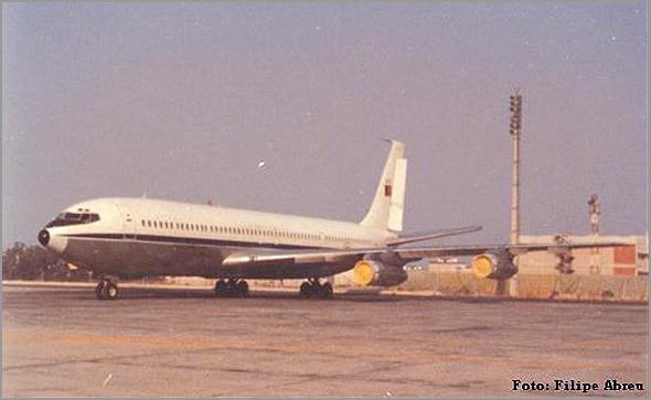 Este é o Boeing 707, então usado para o transporte de tropa em missão (foto: Filipe Abreu) - capeiaarraiana.pt