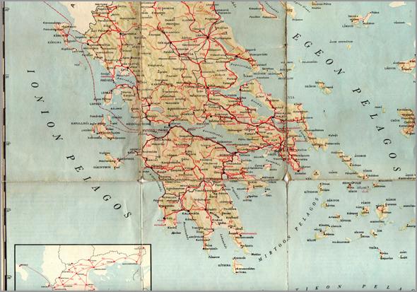 Mapa da Grécia - Capeia Arraiana