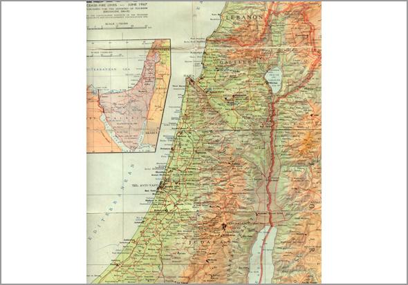Mapa de Israel - Capeia Arraiana