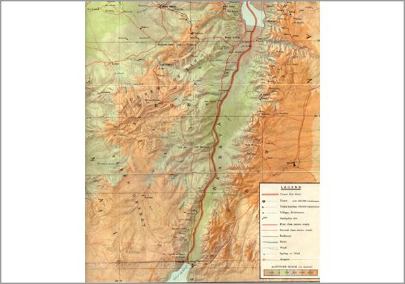 Mapa de Israel por onde andou o Franklim - Capeia Arraiana
