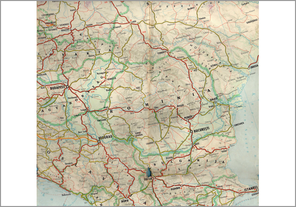 Mapa da Bulgária, Roménia e Hungria - Capeia Arraiana